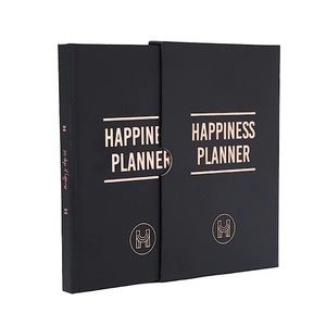 Happiness Planner Journal Agenda Diary Black Gold